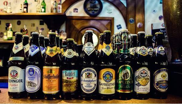 Немецкое нефильтрованное пиво марки